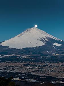 Фотография Горы Фудзияма Япония Вулканы Луна
