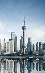 Фото Небоскребы Здания Китай Шанхай Башни