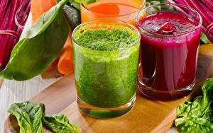 Картинка Овощи Смузи Стакан Трое 3 Пища