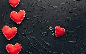 Картинки День святого Валентина Красный Сердечко Замковый ключ