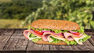 Картинки Быстрое питание Сэндвич Доски Еда
