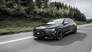 Фотографии Ауди Едущий Универсал Черная Металлик TDI, ABT, Avant, 2019, Audi S6 авто