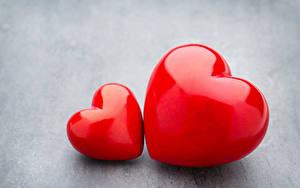 Фото День всех влюблённых Серый фон Сердечко 2 Красный