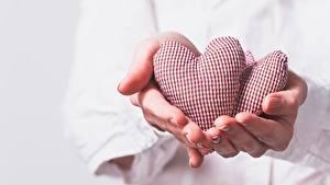 Фотография Пальцы День святого Валентина Сердце Рука