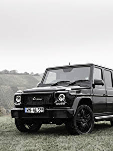 Фото Мерседес бенц G-класс Черный Lorinser W463 G-Class Автомобили