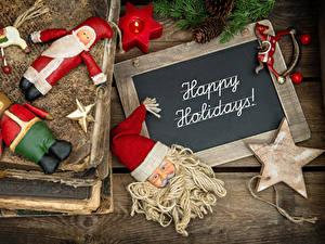 Фотографии Рождество Английский Санта-Клаус Звездочки