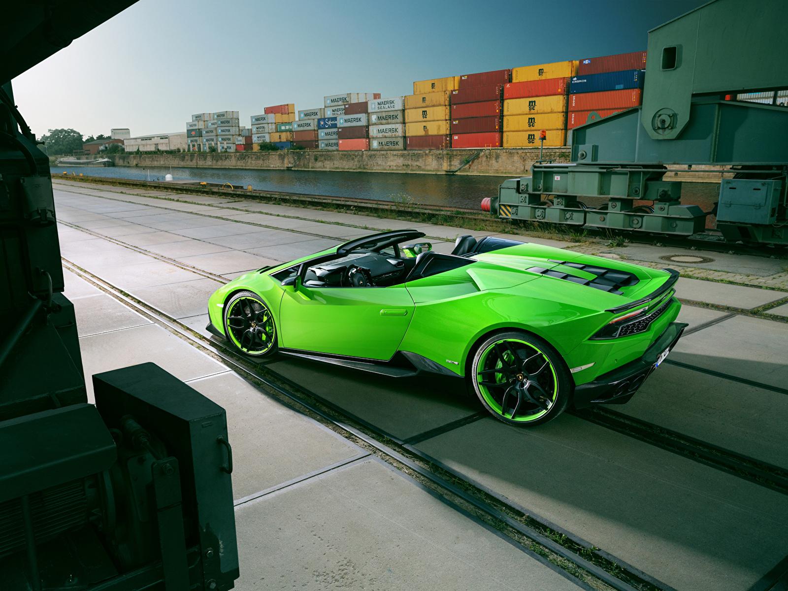 Фотография Lamborghini Spyder Novitec Torado Huracan Родстер салатовая машины 1600x1200 Ламборгини Салатовый салатовые желто зеленый авто машина автомобиль Автомобили