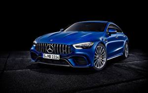 Обои Мерседес бенц Синий Металлик Concept GT-Class автомобиль