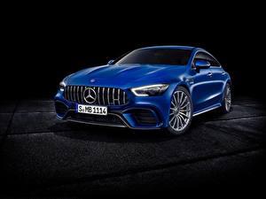 Обои Мерседес бенц Синяя Металлик Concept GT-Class авто