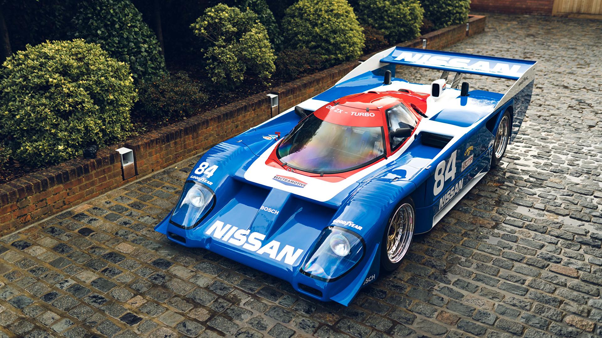 Фото Ниссан Стайлинг 1985-91 GTP ZX-Turbo Винтаж голубая Металлик Автомобили 1920x1080 Nissan Тюнинг Ретро голубых голубые Голубой старинные авто машина машины автомобиль