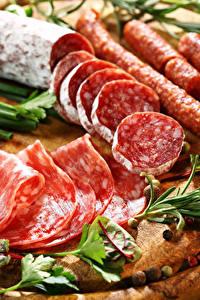 Фото Мясные продукты Колбаса Нарезанные продукты