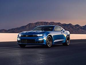 Обои Шевроле Металлик Синих 2018 eCOPO Camaro Concept Автомобили