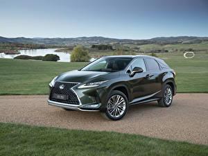 Обои для рабочего стола Лексус Зеленая Металлик 2019 RX 350 авто