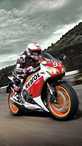 Фотография Дороги Движение Honda CBR1000RR Мотоциклы