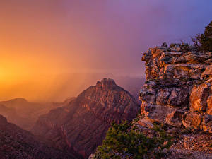 Обои США Гранд-Каньон парк Парки Горы Рассветы и закаты