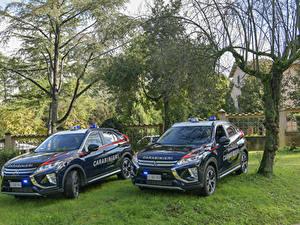 Фотография Мицубиси Стайлинг 2 Синий Металлик Полицейские 2018 Eclipse Cross Carabinieri Авто