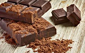 Картинки Сладости Шоколад Доски Какао порошок Пища