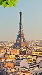 Фотографии Франция Здания Париже Эйфелева башня город