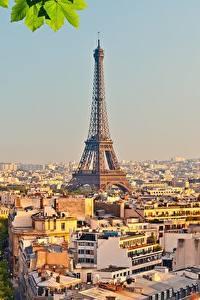 Фотографии Франция Здания Париж Эйфелева башня Города