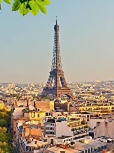 Фотографии Франция Здания Париж Эйфелева башня
