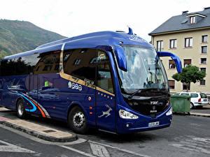 Фотографии Сканиа Автобус Синий Металлик IRIZAR i6 SCANIA Автомобили