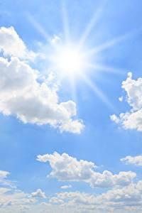 Фотографии Небо Солнце Облака