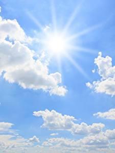 Фотографии Небо Солнце Облака Природа