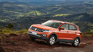 Фотографии Volkswagen Оранжевый Металлик 2019 T-Cross 250 TSI Highline Latam Автомобили