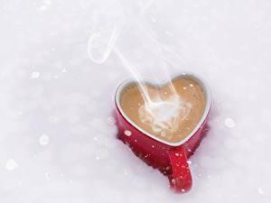 Картинки Кофе Кружка Сердечко Пар