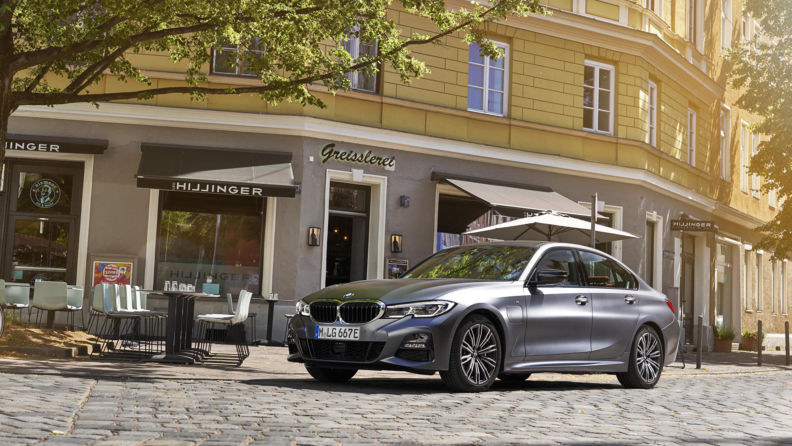 Фотографии БМВ 2019 330e M Sport Worldwide серая автомобиль 2560x1440 BMW серые Серый авто машина машины Автомобили