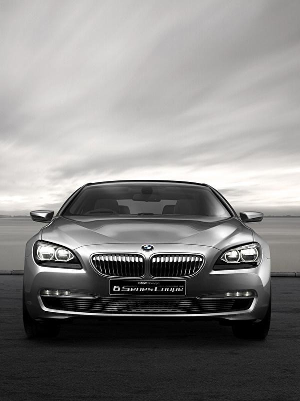 Картинка БМВ Concept F13 6-Series Купе Серый Спереди Автомобили 600x800 для мобильного телефона BMW серая серые авто машины машина автомобиль