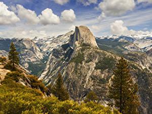 Обои Штаты Парки Горы Йосемити Ель Природа