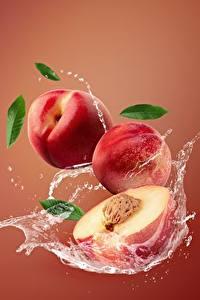 Картинка Персики Брызги Nectarine