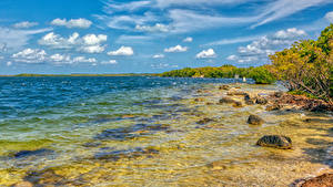 Картинка Штаты Берег Камень Флорида Залив Key Largo