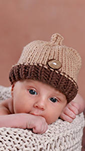 Фотография Грудной ребёнок Шапки Дети