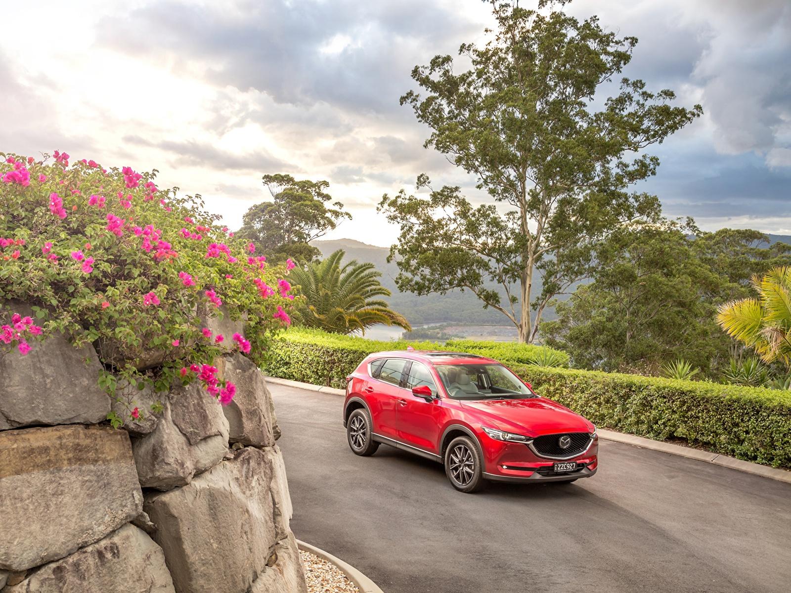 Картинка Mazda 2017 CX-5 Akera красных машина Металлик 1600x1200 Мазда Красный красные красная авто машины автомобиль Автомобили