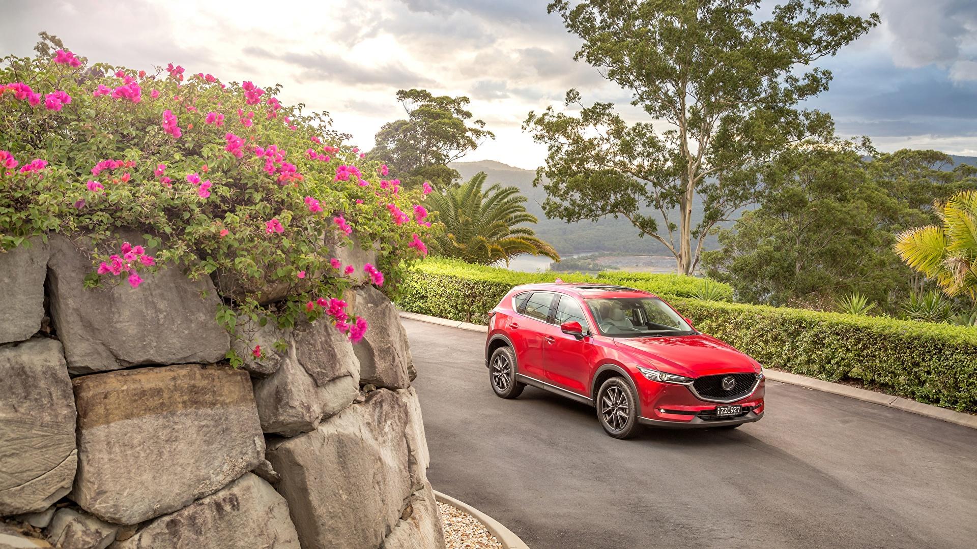 Картинка Mazda 2017 CX-5 Akera красных машина Металлик 1920x1080 Мазда Красный красные красная авто машины автомобиль Автомобили
