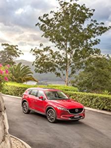 Картинка Mazda Красный Металлик 2017 CX-5 Akera Автомобили