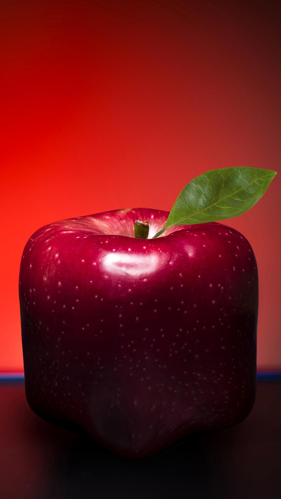 Обои для рабочего стола красная Яблоки оригинальные Пища Крупным планом 1080x1920 красных красные Красный Креатив Еда Продукты питания вблизи