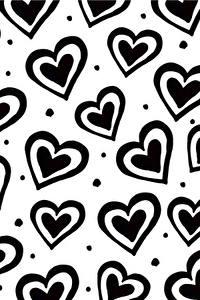 Обои Текстура Сердца Черно белое