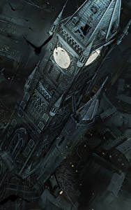 Фото Thief Дома Вороны Часы Башни Сверху компьютерная игра Города