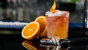 Обои Коктейль Алкогольные напитки Апельсин Стакан Лед Еда