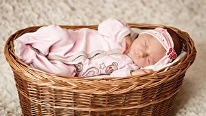 Картинка Корзины Младенцы Сон ребёнок