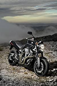 Обои Yamaha Черный 2007-12 MT-01 Мотоциклы