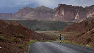 Картинки Дороги Гора США Парки Бег Утес Каньоны Grand Canyon, Arizona, Colorado plateau