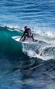 Фото Волны Серфинг Мужчины спортивные