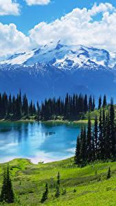 Фотография Пейзаж Гора Озеро Луга Канада Банф