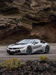 Картинки BMW Серая Металлик Купе 2018 i8 авто