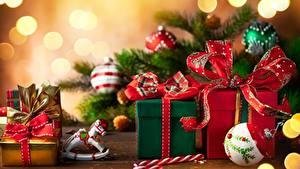 Фото Рождество Подарки Бантики