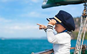 Фотография Мальчики Униформе Шляпе ребёнок